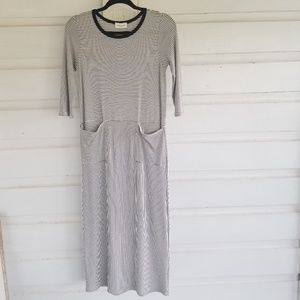 NWT Orange Creek | Black White Midi Dress Size S